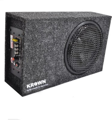 Krown Bass Master CBT-8US Compact Under Seat 3500W Bass Master Subwoofer with inbuilt Amplifier Subwoofer(Powered , RMS Power: 100 W)