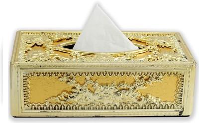 AutoStark GOL-5132 Full Golden Designer Holder Box Vehicle Tissue Dispenser(Gold)
