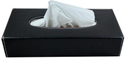 AutoStark BKT-6011 Leather Box Vehicle Tissue Dispenser(Black)