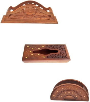 Craftatoz tis-10 Vehicle Tissue Dispenser(Brown)