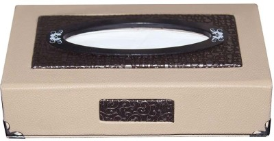Kozdiko Beige Leatherite Designer Vehicle Tissue Dispenser