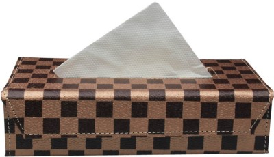 Speedwav Checkered Flag Box Holder - Bronze Vehicle Tissue Dispenser