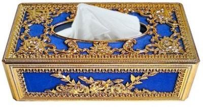 AutoStark GBL-5131 Golden And Blue Designer Holder Box Vehicle Tissue Dispenser(Gold, Blue)