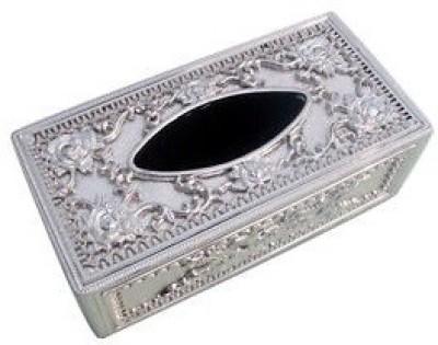 De AutoCare Silver Designer Royal Holder Box Vehicle Tissue Dispenser