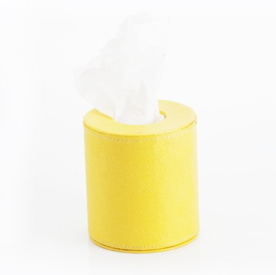 Eco Leatherette Round 399 Yellow Vehicle Tissue Dispenser