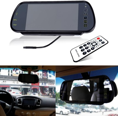Bluz on 7inch Car Lcd Tft Usb Mp3 Mp4 Mp5 Player Rear View Mirror Monitor Black LED