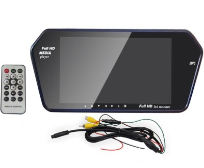 Autostuff 7 inch HD Rear View Mirror Screen, Bluetooth, USB, SD Card Black LED(17.78 cm)