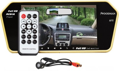 Woodman Woodman Car 7 inch LED screen Video Monitor with USB (BEIGE) and Car Reaview Camera Beige LED(18 cm)