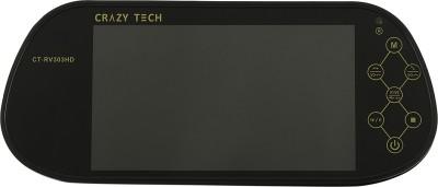 Crazy Tech Electronics 7 Inch Rear View Mirror Black LED