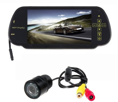 Speedwav Rear View Mirror Screen with Rear View Camera Universal Black LCD