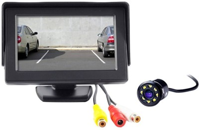 CP Bigbasket TFT Monitor with LED Reverse Parking Camera -Universal For Car Black LCD(4.3 cm)