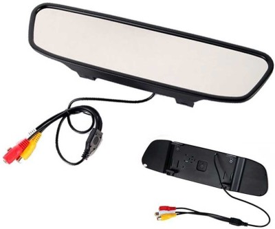Woodman 4.3 Digital Tft Lcd Screen Rearview Mirror Monitor For Reverse Camera Black LCD(11 cm)
