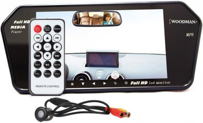 Woodman 7 inch LED Car Video Monitor with USB & Bluetooth (Black) and Car Reaview Camera Black LED