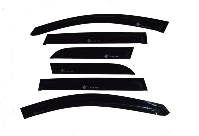 Pinnacle External Tape Mount Black Window Visor