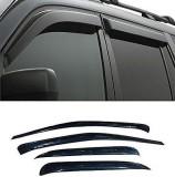 Carsaaz Tape on Black Window Visor (Blac...