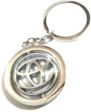 Abzr Toyota Moving Metal Silver Keychain...