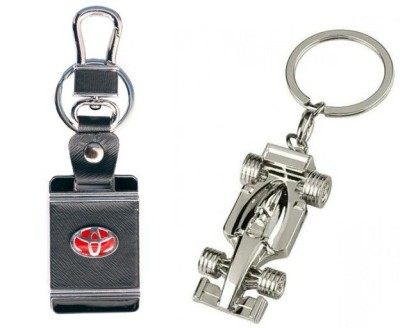 i-gadgets Toyota Square Leather and Formula one 3D Locking Key Chain