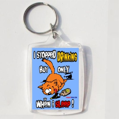 Thoughtroad STOPPED DRINGING Key Chain