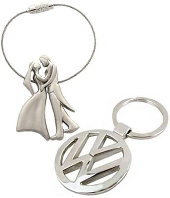 Homeproducts4u Volkswagen & Bridegroom Key Chain Pack Of 2 Key Chain