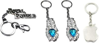 FCS Big Royal Enfield + Omg + Apple Locking Key Chain