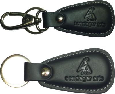 Sondagar Arts Attractive Pure Leather Men's Locking Key Chain