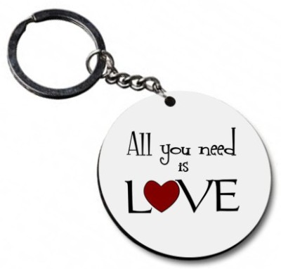 Shoppers Bucket Love is all you need Key Chain