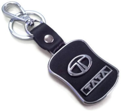 Prime Traders Tata Leather Imported Locking Key Chain