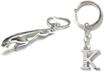 Rashi Traders Jaguar + Alphabet K Key Chain
