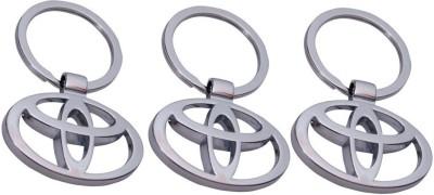 PARRK Toyota Silver Metal KE3 Key Chain