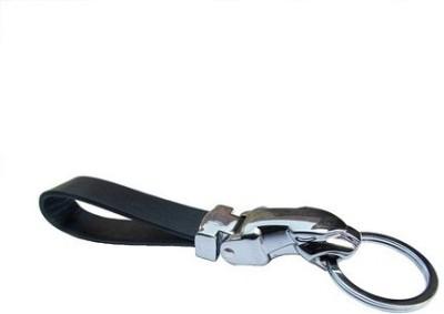 Phoenix Jaguar Leather Metallic Key Chain