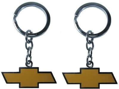 Indiashopers Chevrolet Metallic Ring (Pack of 2) Key Chain