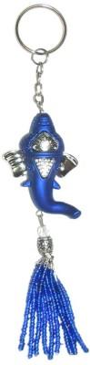 Crazytowear Hanging Ganesha Head Key Chain