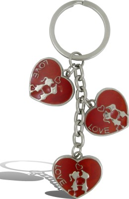 Get Fatang 3 in 1 Love Heart First Kiss Valentine Key Chain