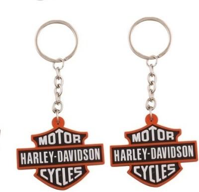 Phoenix Pack Of 2 Motor Harley Davidson Rubber Key Chain