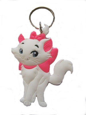 Optimum Deal Cute Cat Double Sided Rubber Key Chain