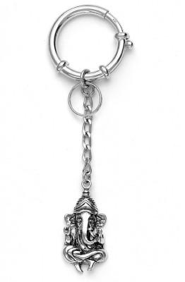 Taraash Sterling Lord Ganeshji Locking Key Chain