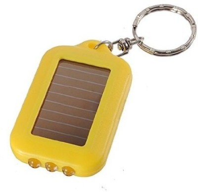 i-gadgets Fancy Yellow Solar Powered Flashlight Key Chain
