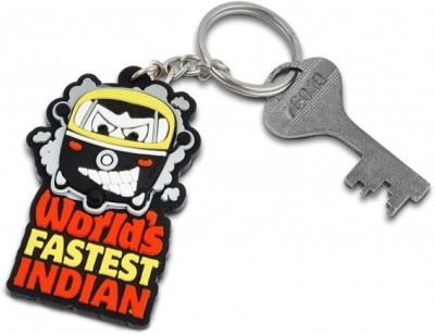 Happily Unmarried World's Fastest Indian Locking Key Chain