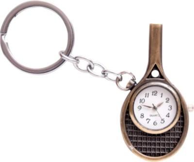 Spotdeal SDL577 Tennis Bat with clock key chain Carabiner