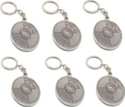 Parrk Pack Of 6 Comapss Key Chain