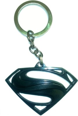 AA Retail Superman Black Premium Metal Key Chain