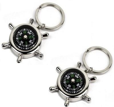 Phoenix Compass Metal Key Chain