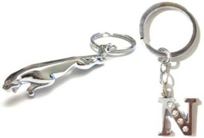 Rashi Traders Jaguar + Alphabet N Key Chain
