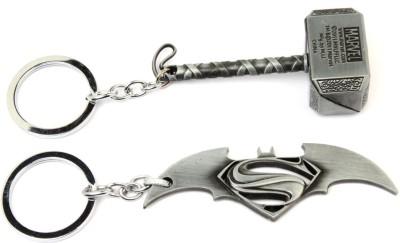 SRPC BATMAN VS SUPERMAN & THOR HAMMER DESIGNER Key Chain