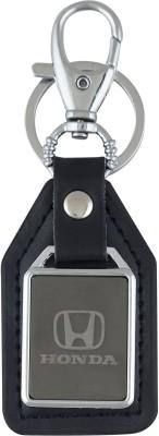 PARRK Honda Mirror Leather Car Logo Locking Key Chain