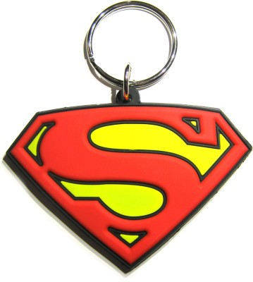 Optimum Deal Cute Superman logo Double Sided Rubber Key Chain