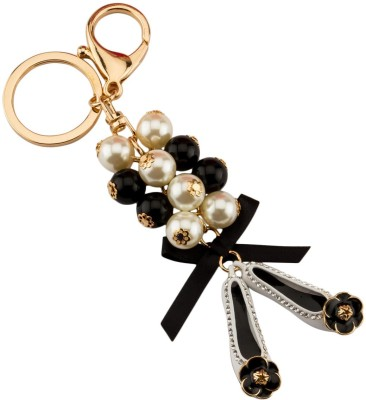 Avaron Projekt Glamorous Loafers With Detailing Pearls Handbag Charm Locking Key Chain