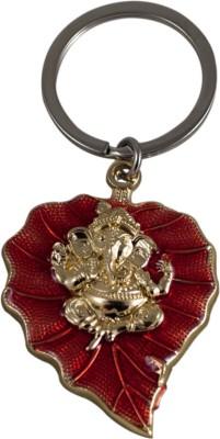 Forty Creek Leaf Lord Ganesha Red Key Chain