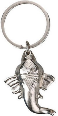 Madhuraj Lord Ganesh Face Silver Colour Key Chain