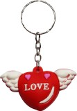 Anishop Cute Small Heart wings Key Chain...